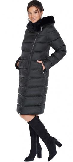 """Женская куртка чёрного цвета на зиму модель 31049 Braggart """"Angel's Fluff"""" фото 1"""