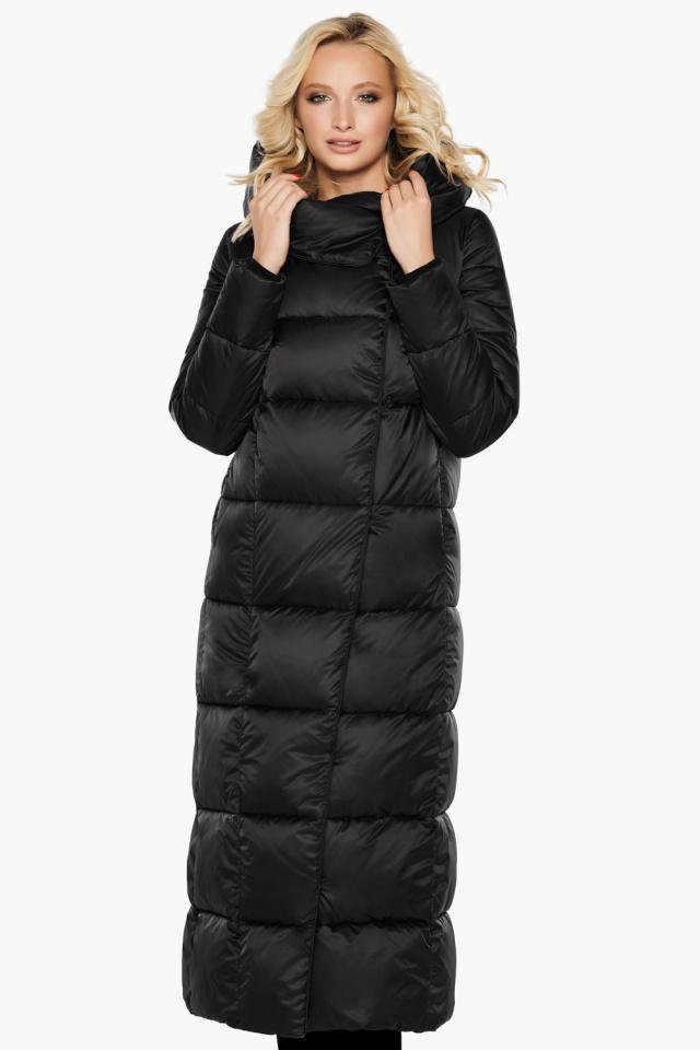 """Женская стильная чёрная куртка на зиму модель 31056 Braggart """"Angel's Fluff"""" фото 6"""