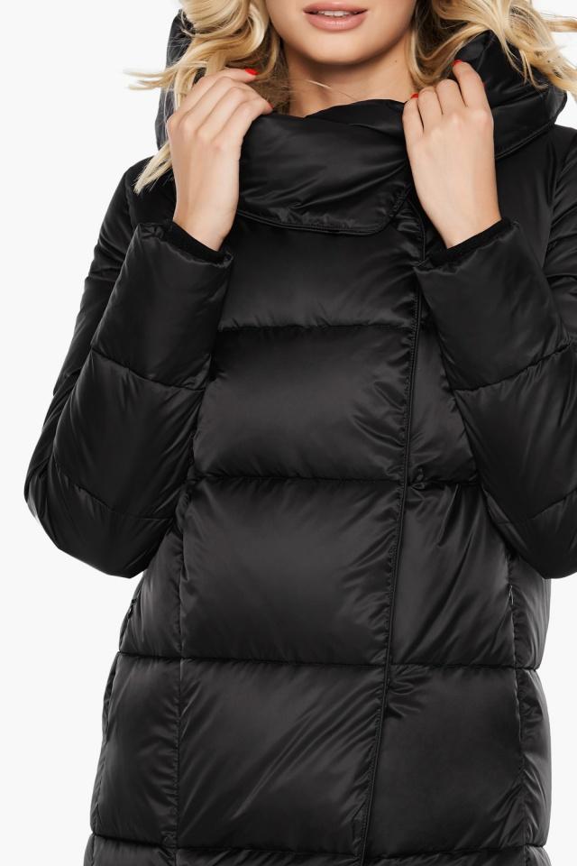 """Женская стильная чёрная куртка на зиму модель 31056 Braggart """"Angel's Fluff"""" фото 9"""