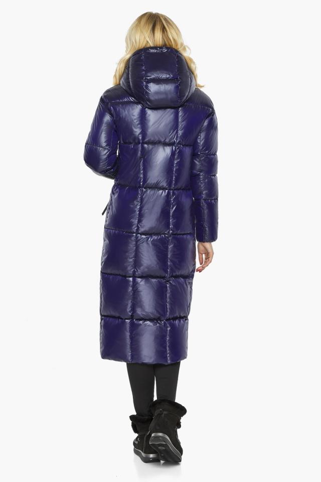 "Зимняя куртка женская с карманами цвет синий бархат модель 42830 Braggart ""Angel's Fluff"" фото 6"