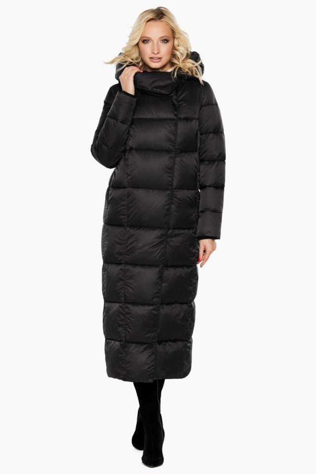 """Женская стильная чёрная куртка на зиму модель 31056 Braggart """"Angel's Fluff"""" фото 3"""
