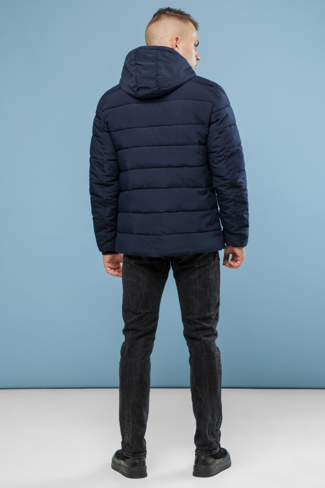 Практичная курточка зимняя мужская тёмно-синяя модель 6015 Kiro Tokao – Ajento фото 5