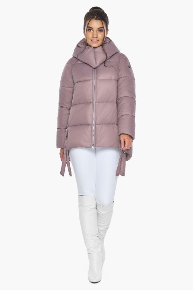"""Пудровая куртка женская на молнии зимняя модель 43070 Braggart """"Angel's Fluff"""" фото 4"""