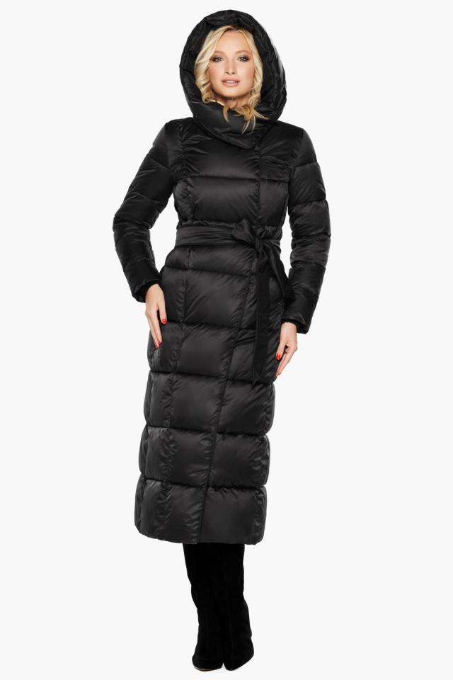 """Женская стильная чёрная куртка на зиму модель 31056 Braggart """"Angel's Fluff"""" фото 2"""