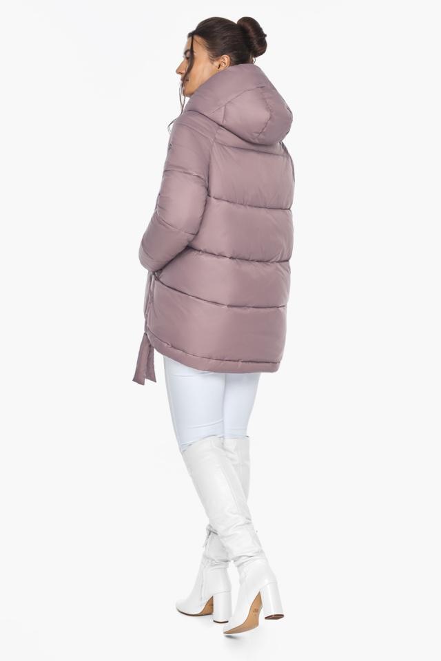 """Пудровая куртка женская на молнии зимняя модель 43070 Braggart """"Angel's Fluff"""" фото 5"""