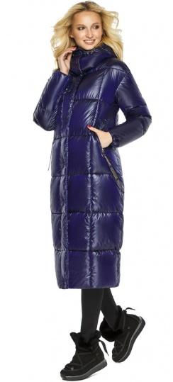 "Зимняя куртка женская с карманами цвет синий бархат модель 42830 Braggart ""Angel's Fluff"" фото 1"