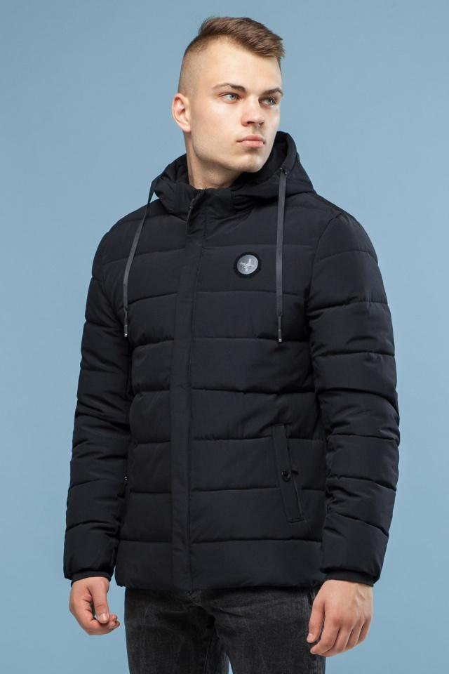 Черная оригинальная мужская зимняя куртка модель 6015 Kiro Tokao – Ajento фото 4