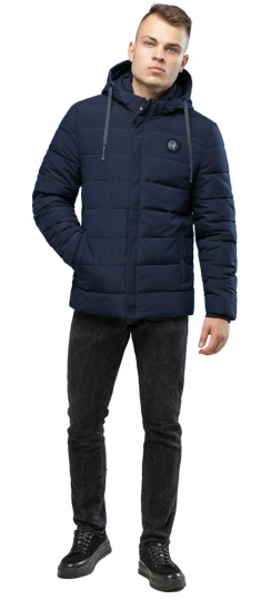 Практичная курточка зимняя мужская тёмно-синяя модель 6015 Kiro Tokao – Ajento фото 1