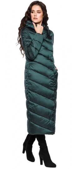 """Куртка зимняя изумрудная женская модель 31016 Braggart """"Angel's Fluff"""" фото 1"""