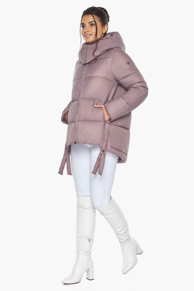 """Пудровая куртка женская на молнии зимняя модель 43070 Braggart """"Angel's Fluff"""" фото 2"""