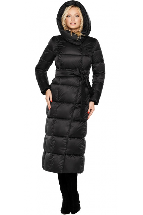 """Женская стильная чёрная куртка на зиму модель 31056 Braggart """"Angel's Fluff"""" фото 1"""