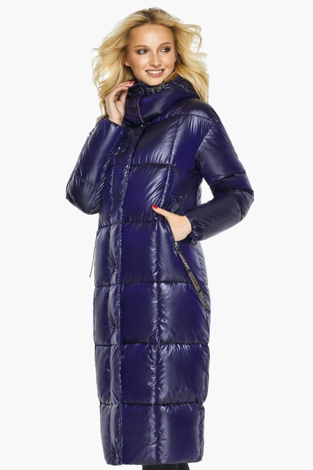 "Зимняя куртка женская с карманами цвет синий бархат модель 42830 Braggart ""Angel's Fluff"" фото 5"