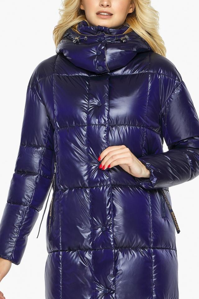 "Зимняя куртка женская с карманами цвет синий бархат модель 42830 Braggart ""Angel's Fluff"" фото 7"