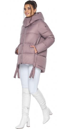 """Пудровая куртка женская на молнии зимняя модель 43070 Braggart """"Angel's Fluff"""" фото 1"""