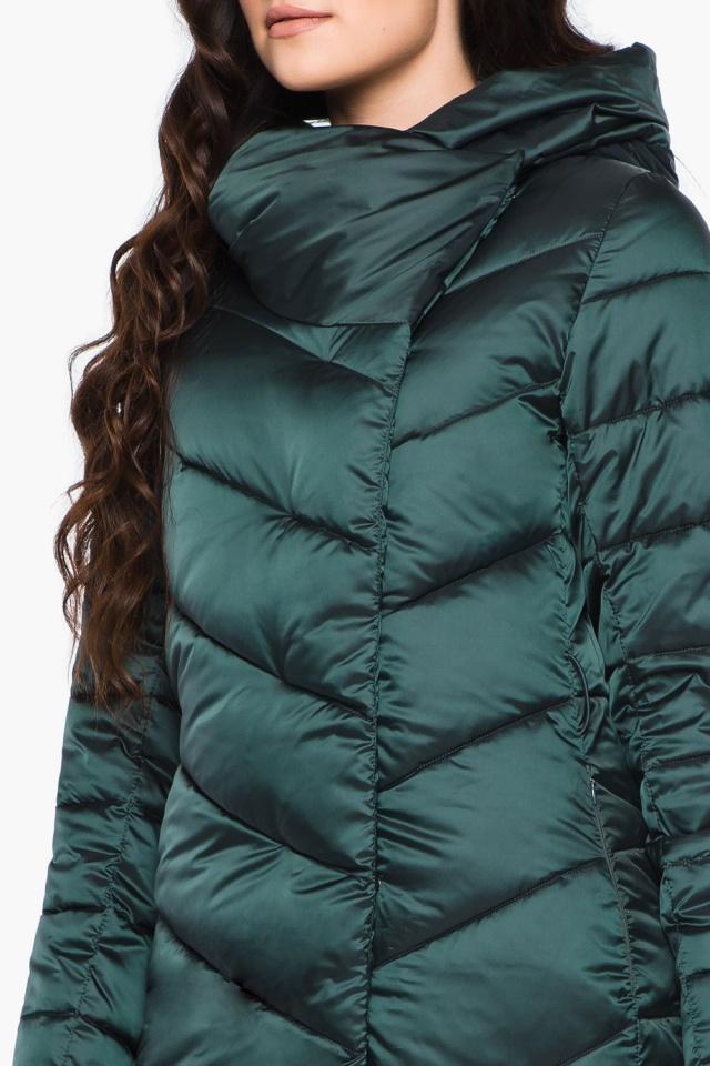 Куртка зимняя изумрудная женская модель 31016