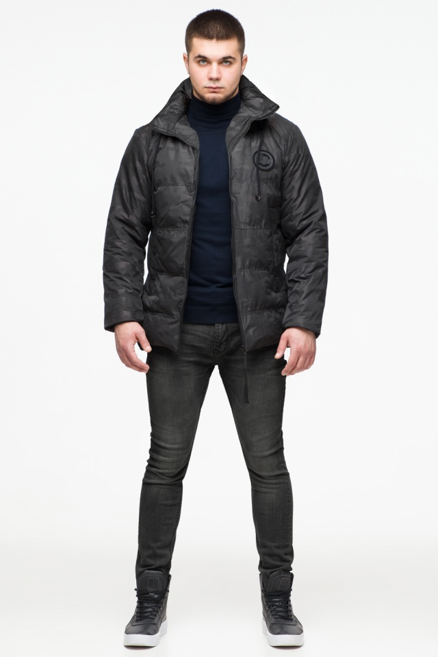 """Чёрная стильная зимняя куртка для мальчика модель 25020 Braggart """"Youth"""" фото 3"""