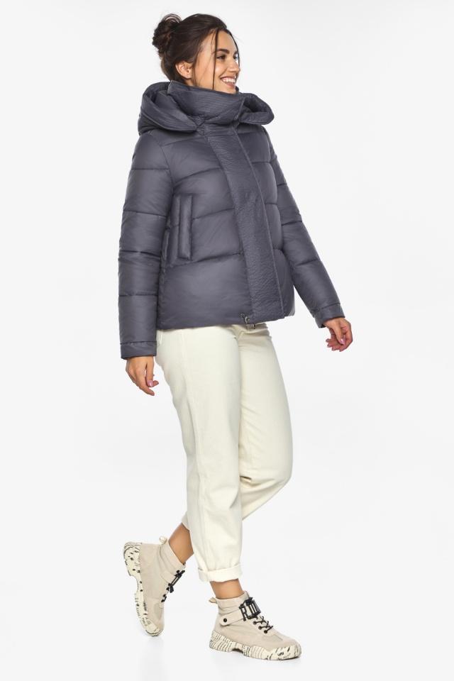 """Жемчужно-серая куртка женская зимняя удобного фасона модель 43560 Braggart """"Angel's Fluff"""" фото 3"""