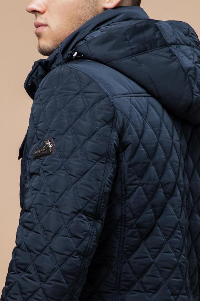 Мужская трендовая светло-синяя куртка на зиму модель 1698
