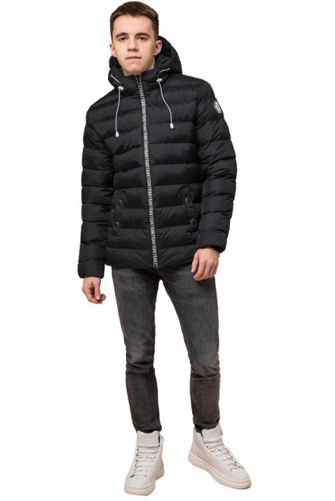"Коротка куртка на хлопчика чорна модель 76025 Braggart ""Teenager"" фото 1"