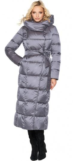 """Стильная жемчужно-серая куртка зимняя женская модель 31056 Braggart """"Angel's Fluff"""" фото 1"""