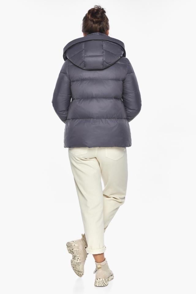 """Жемчужно-серая куртка женская зимняя удобного фасона модель 43560 Braggart """"Angel's Fluff"""" фото 5"""