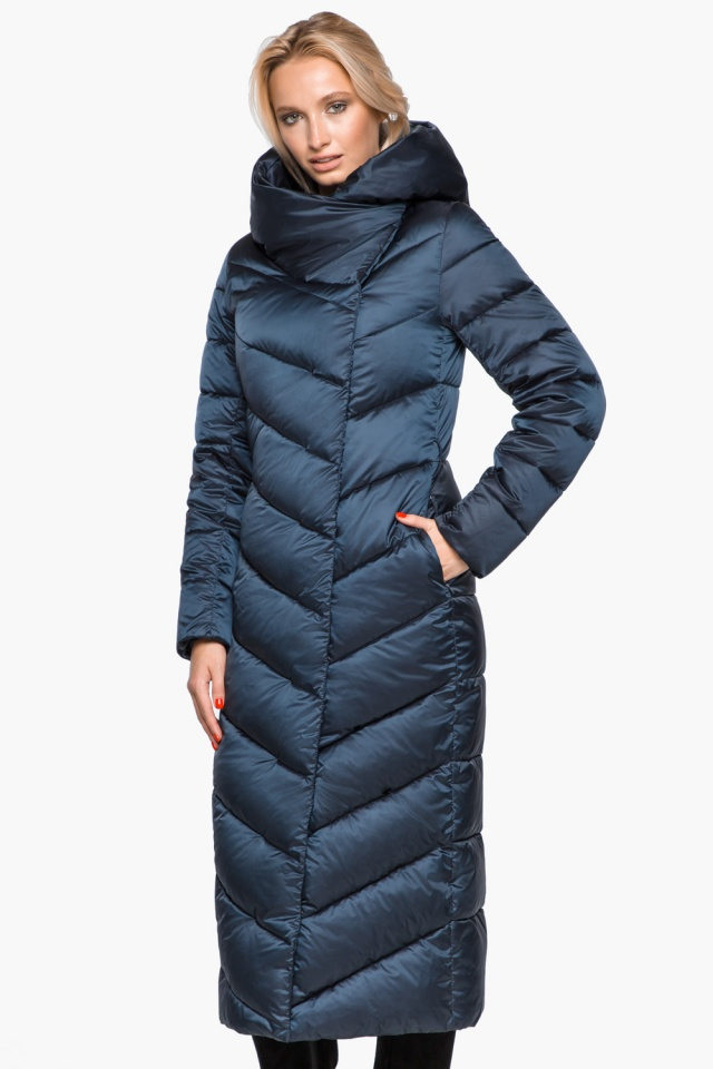 Сапфировая куртка женская на зиму модель 31016