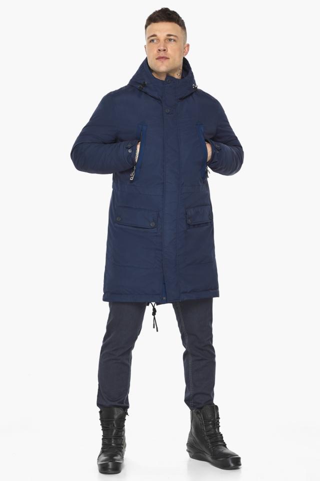 "Куртка – воздуховик тёмно-синий фирменный мужской зимний модель 30444 Braggart ""Angel's Fluff Man"" фото 2"