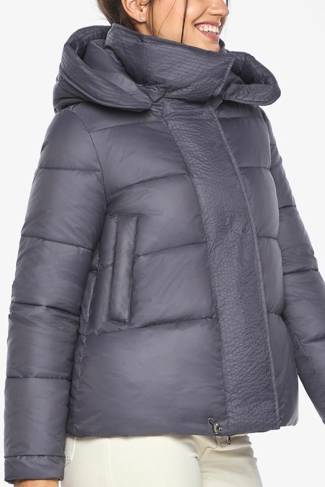 """Жемчужно-серая куртка женская зимняя удобного фасона модель 43560 Braggart """"Angel's Fluff"""" фото 6"""