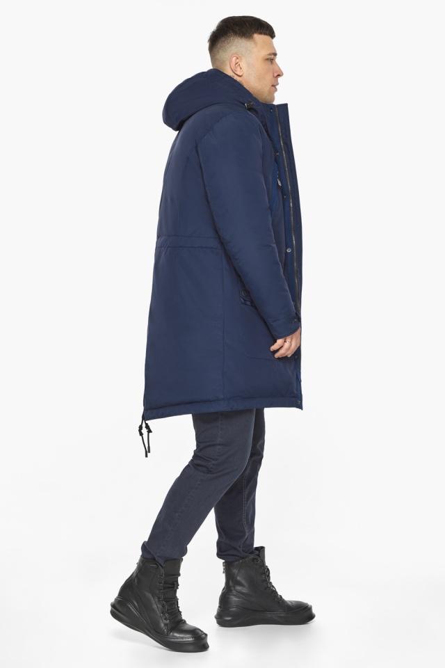 "Куртка – воздуховик тёмно-синий фирменный мужской зимний модель 30444 Braggart ""Angel's Fluff Man"" фото 9"