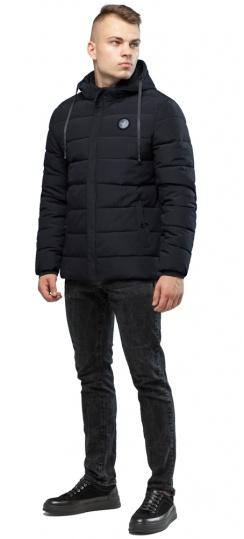 Мужская тёплая куртка на зиму чёрная модель 6015 Kiro Tokao фото 1
