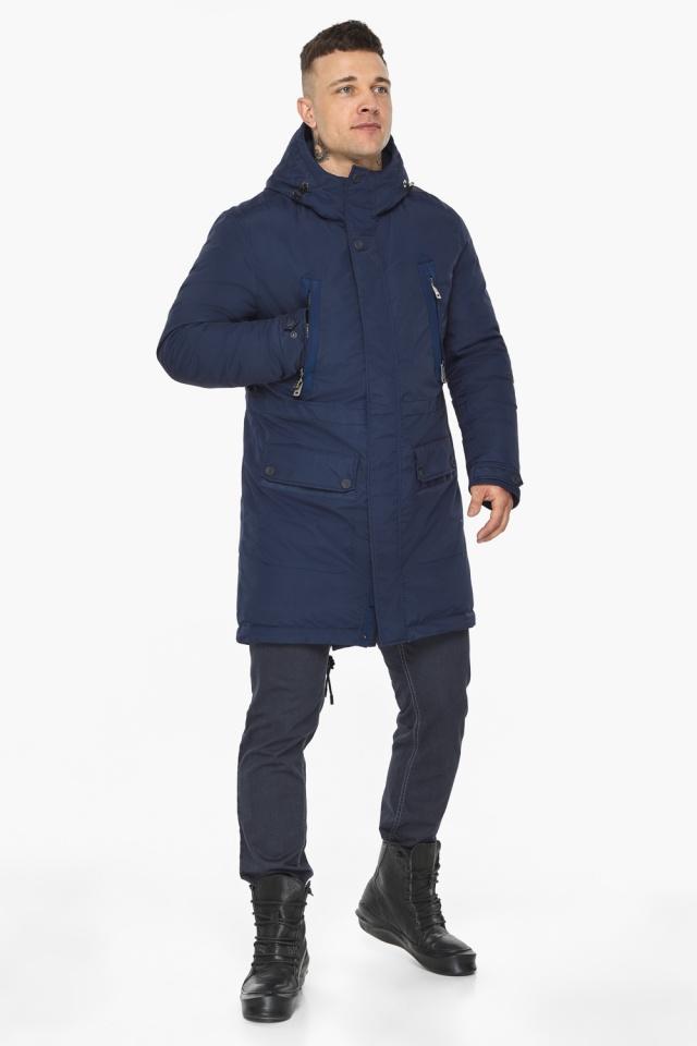 "Куртка – воздуховик тёмно-синий фирменный мужской зимний модель 30444 Braggart ""Angel's Fluff Man"" фото 6"