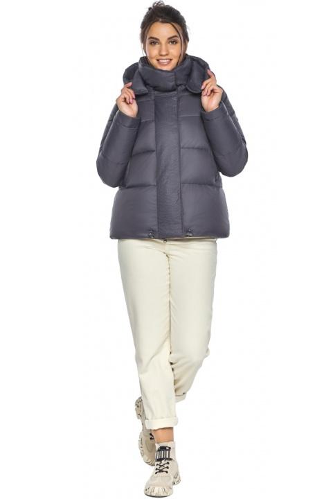 """Жемчужно-серая куртка женская зимняя удобного фасона модель 43560 Braggart """"Angel's Fluff"""" фото 1"""