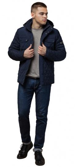 """Зимняя мужская куртка комфортного кроя синяя модель 1698 Braggart """"Dress Code"""" фото 1"""