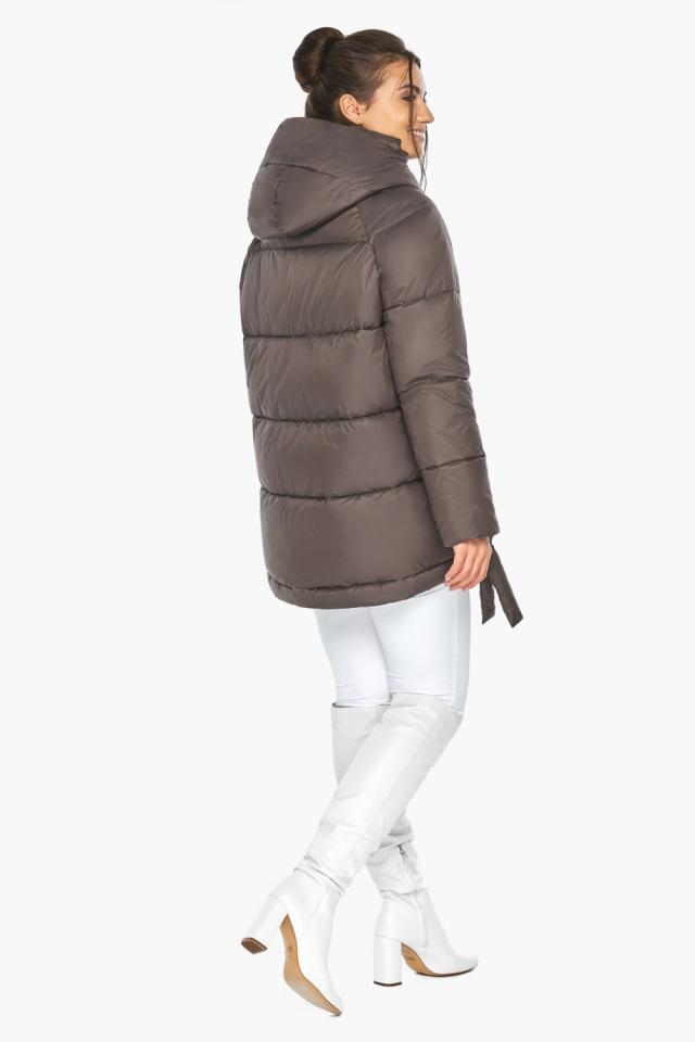 """Куртка женская зимняя с капюшоном цвет капучино модель 43070 Braggart """"Angel's Fluff"""" фото 5"""