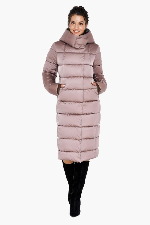 "Зимняя куртка тёплая женская цвета пудры модель 31028 Braggart ""Angel's Fluff"" фото 3"