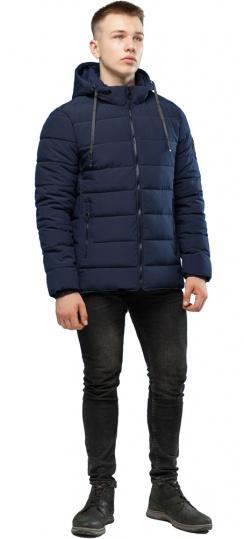 Темно-синяя качественная куртка зимняя для мужчин модель 6016 Kiro Tokao фото 1