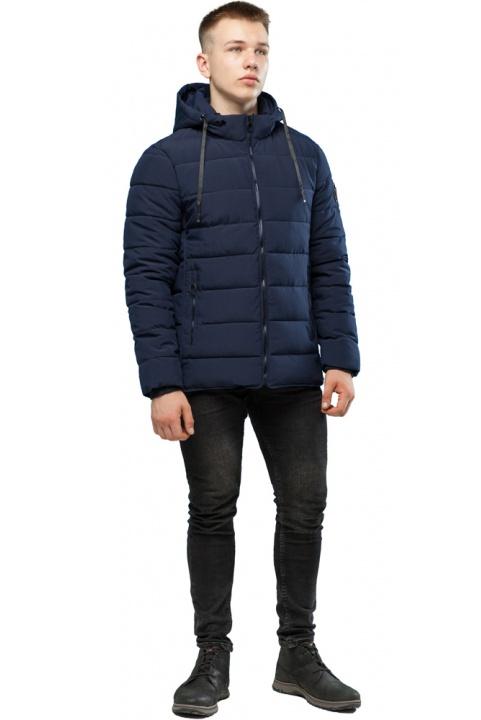 Темно-синяя качественная куртка зимняя для мужчин модель 6016 Kiro Tokao – Ajento фото 1