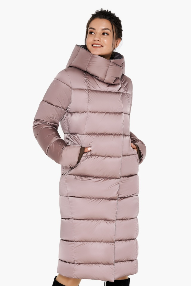 """Зимняя куртка теплая женская цвета пудры модель 31028 Braggart """"Angel's Fluff"""" фото 3"""