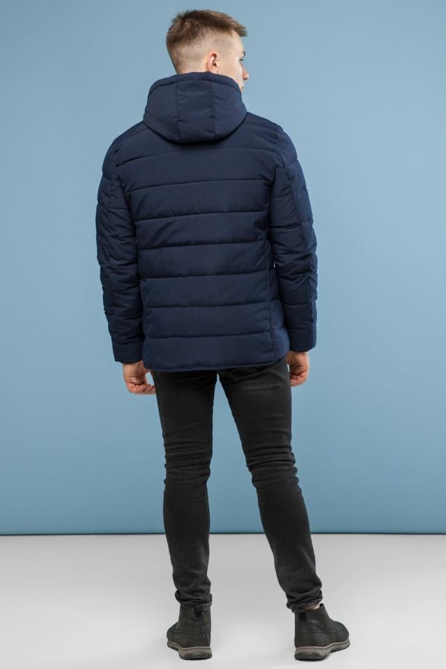 Темно-синяя качественная куртка зимняя для мужчин модель 6016 Kiro Tokao – Ajento фото 5