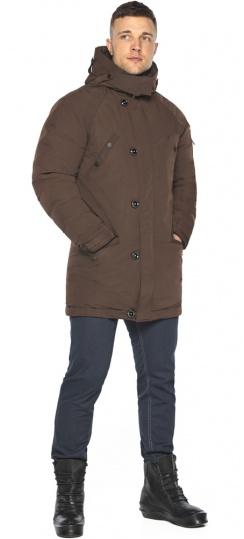 "Куртка – воздуховик коричневый зимний для мужчин модель 30707 Braggart ""Angel's Fluff Man"" фото 1"
