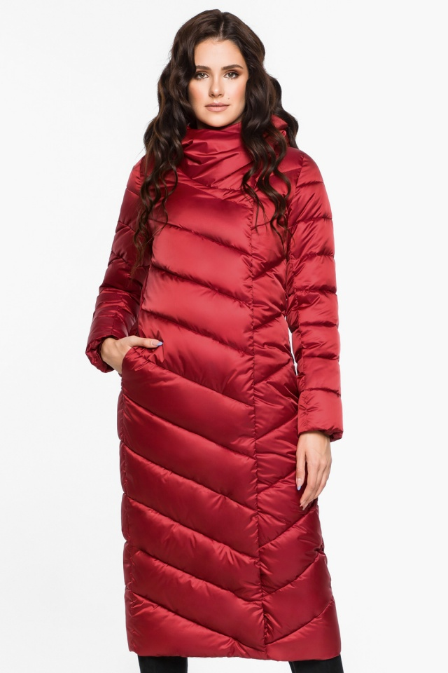 """Рубиновая куртка зимняя женская модель 31016 Braggart """"Angel's Fluff"""" фото 5"""