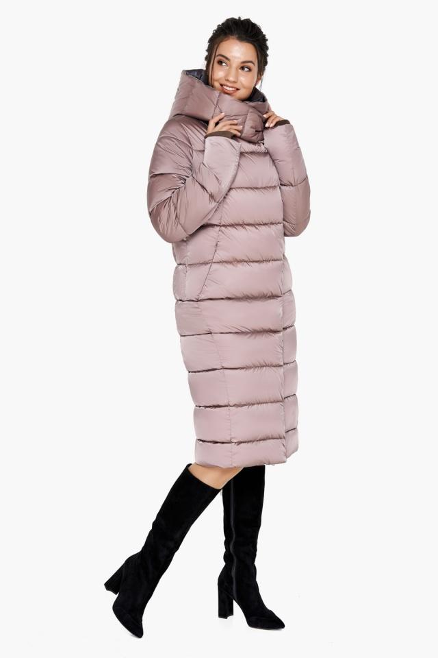 "Зимняя куртка тёплая женская цвета пудры модель 31028 Braggart ""Angel's Fluff"" фото 6"