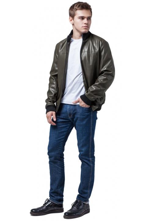 """Кожаная куртка-осень цвет хаки модель 2970 Braggart """"Youth"""" фото 1"""