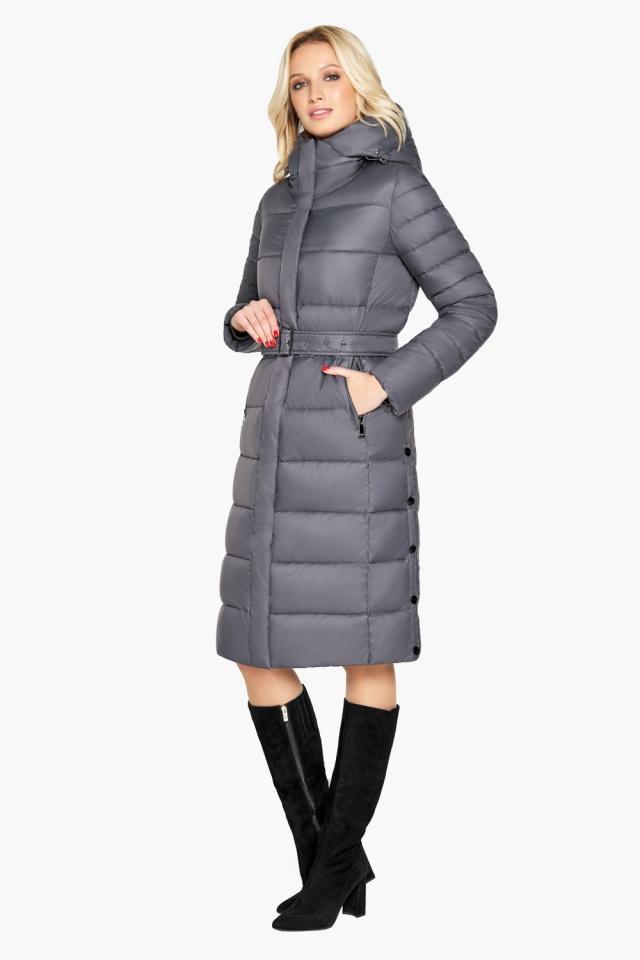 """Зимняя куртка женская цвет муссон модель 31052 Braggart """"Angel's Fluff"""" фото 4"""