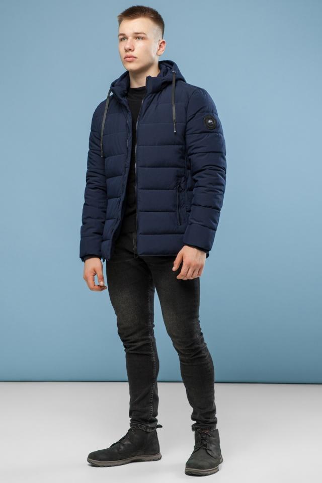 Темно-синяя качественная куртка зимняя для мужчин модель 6016 Kiro Tokao – Ajento фото 3