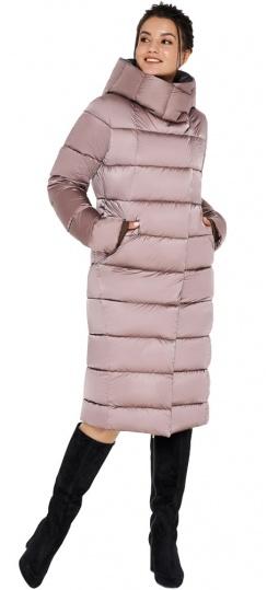"Зимняя куртка тёплая женская цвета пудры модель 31028 Braggart ""Angel's Fluff"" фото 1"