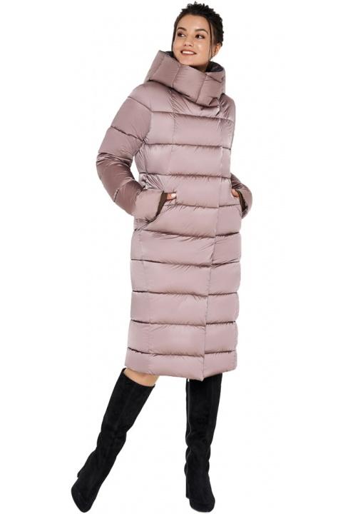 """Зимова куртка тепла жіноча кольору пудри модель 31028 Braggart """"Angel's Fluff"""" фото 1"""