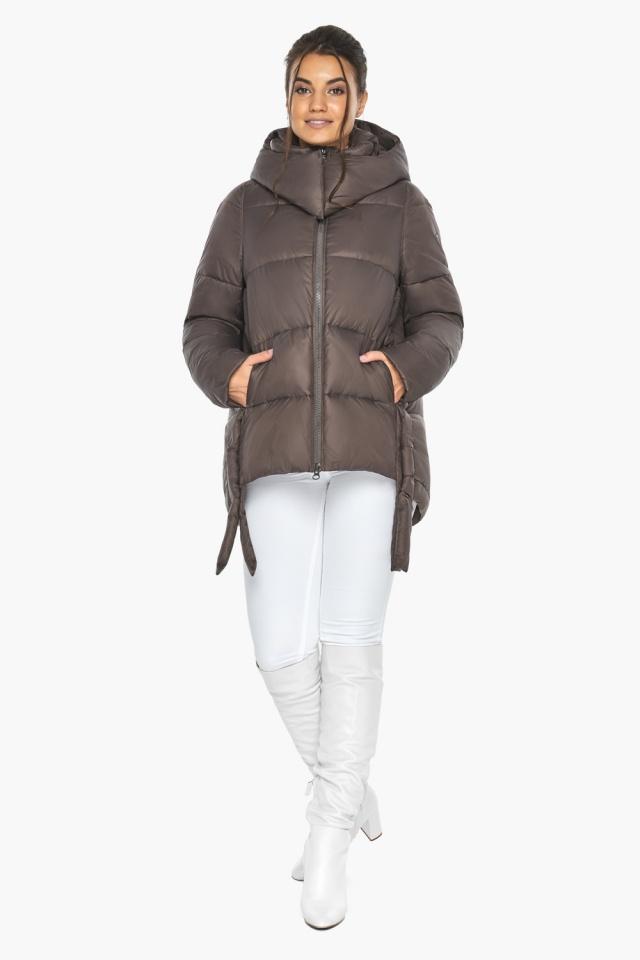 """Куртка женская зимняя с капюшоном цвет капучино модель 43070 Braggart """"Angel's Fluff"""" фото 4"""