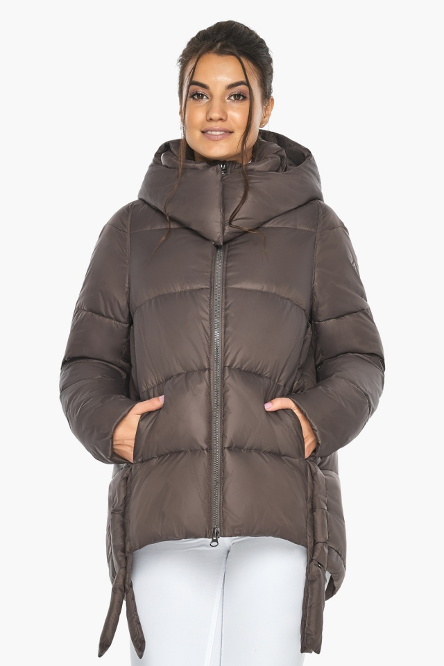 """Куртка женская зимняя с капюшоном цвет капучино модель 43070 Braggart """"Angel's Fluff"""" фото 3"""