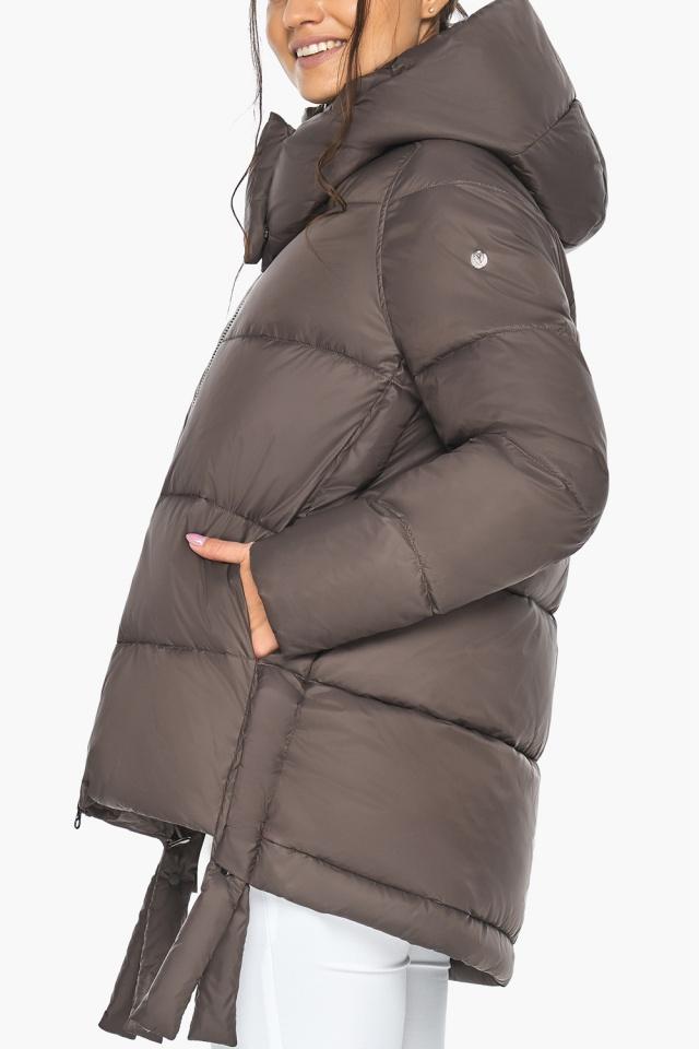 """Куртка женская зимняя с капюшоном цвет капучино модель 43070 Braggart """"Angel's Fluff"""" фото 6"""
